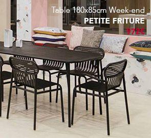 Table Tableweekend Petitefriture Mobilierdejardin Outdoor Design Mobilier Mobilier Jardin Mobilier De Salon