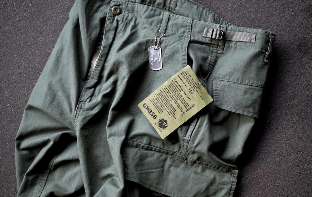 ロスコ のジャングルファティーグは夏でも暑苦しくない 軍パン です カーゴパンツ パンツ ベトナム戦争
