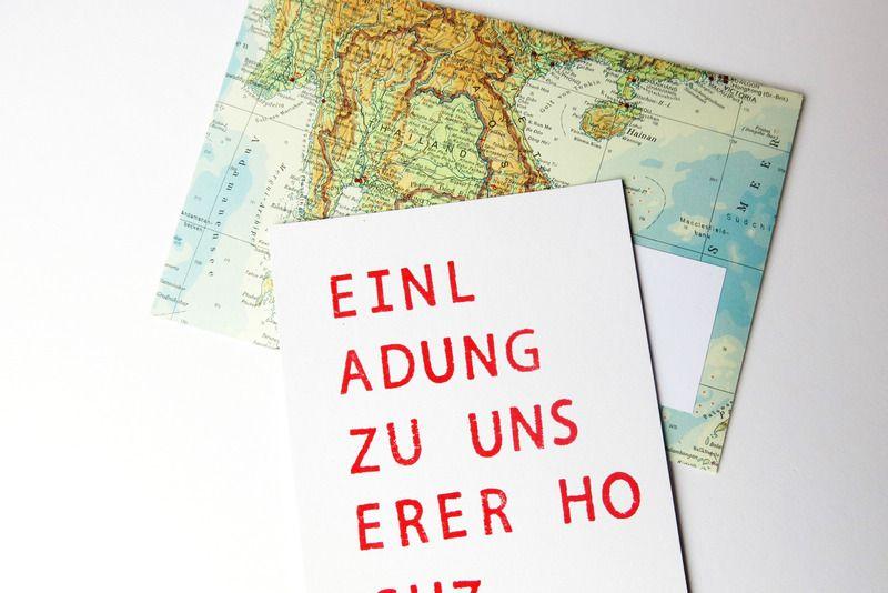 Hochzeits Einladungskarte Gestempelt Mit Umschlag Von Adaseide Auf