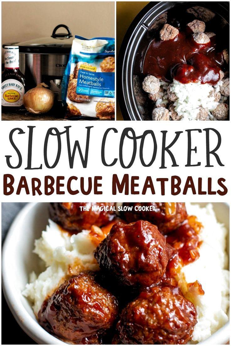 Barbecue Meatballs Crockpot