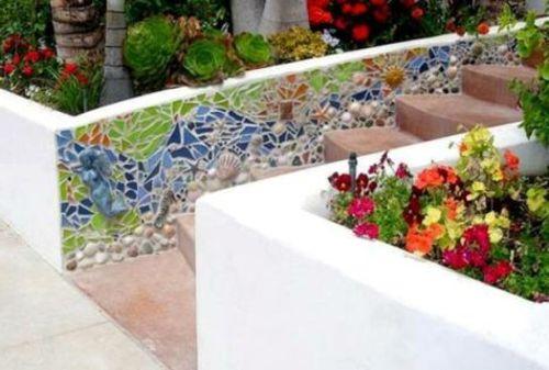 gartendekoration selber machen bunte mosaik maritim | garten, Garten und erstellen