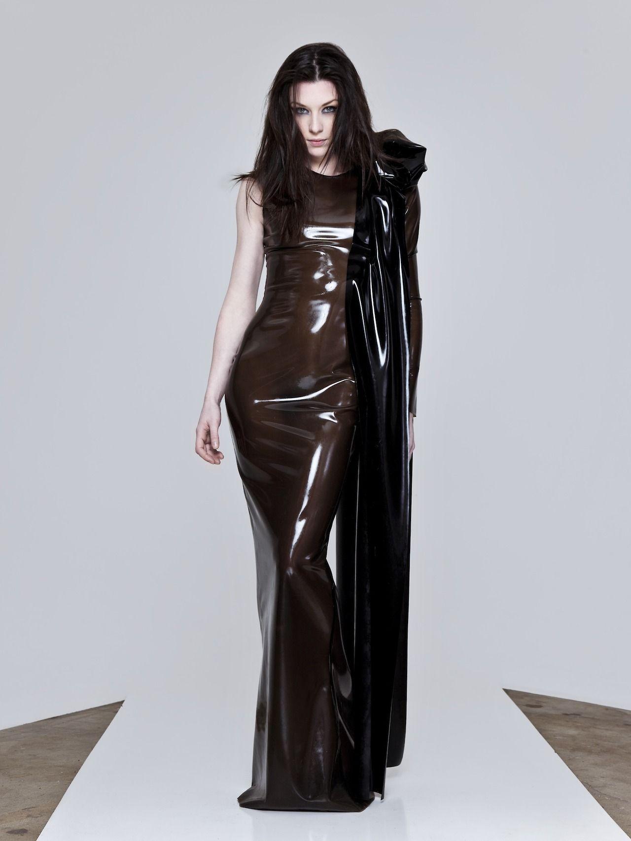 904a1137b9 Semi transparent long Latex dress  stoya  stoyadoll  jessicastoyadinovich   pornostar  sexy