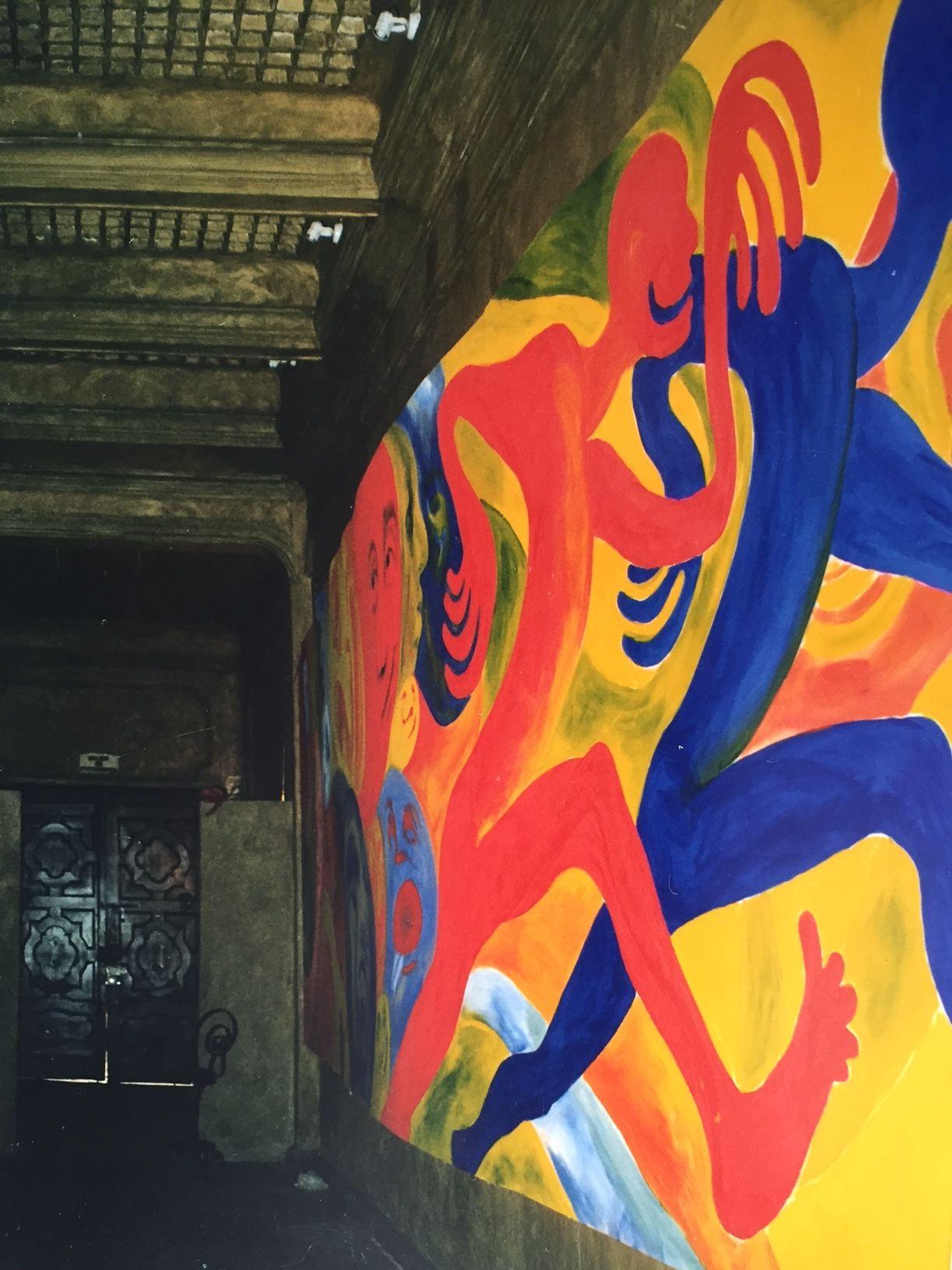Mural sobre atletismo, realizado en DeAl… | Bárbara Vázquez ...