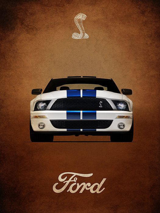 Ford Mustang Shelby 06 Art Print By Mark Rogan Ford Mustang Shelby Mustang Shelby Ford Mustang