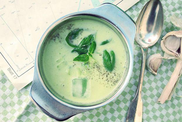 blitz gurken-sommer-suppe, geeist. schnelles und einfaches rezept, Hause deko