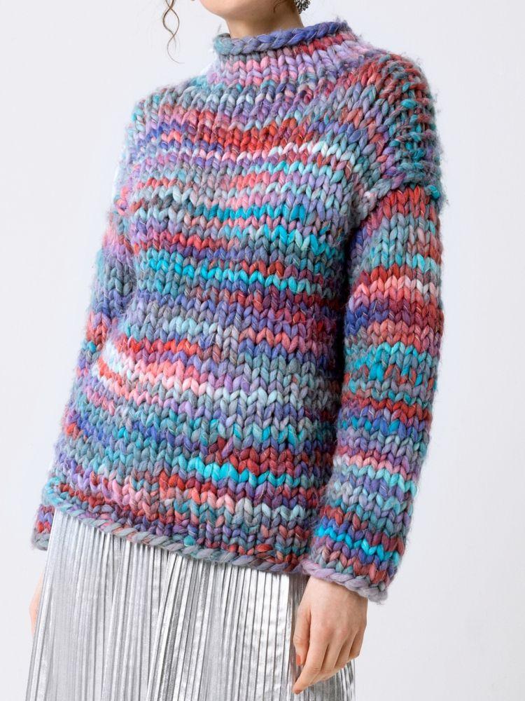 Photo of Kostenlose Anleitung: Strickpullover – easy knitting – Initiative Handarbeit