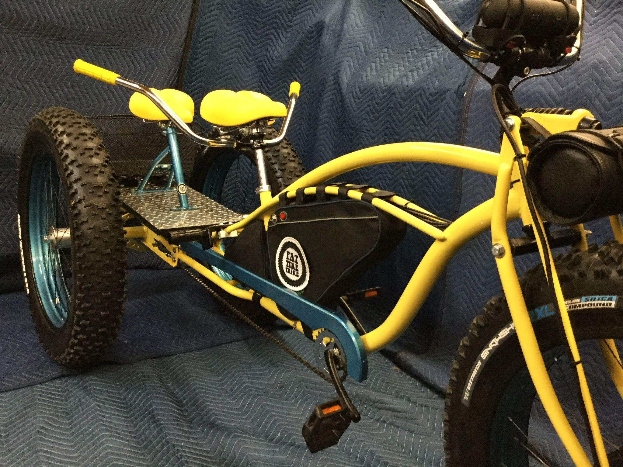 Pin On Electric Fat Tire Trike Passenger Platform