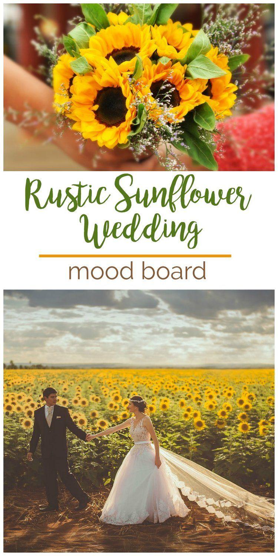 2b358f3a5b20 Mood Board: Rustic Sunflower Wedding | Wedding Mood Boards | Wedding ...