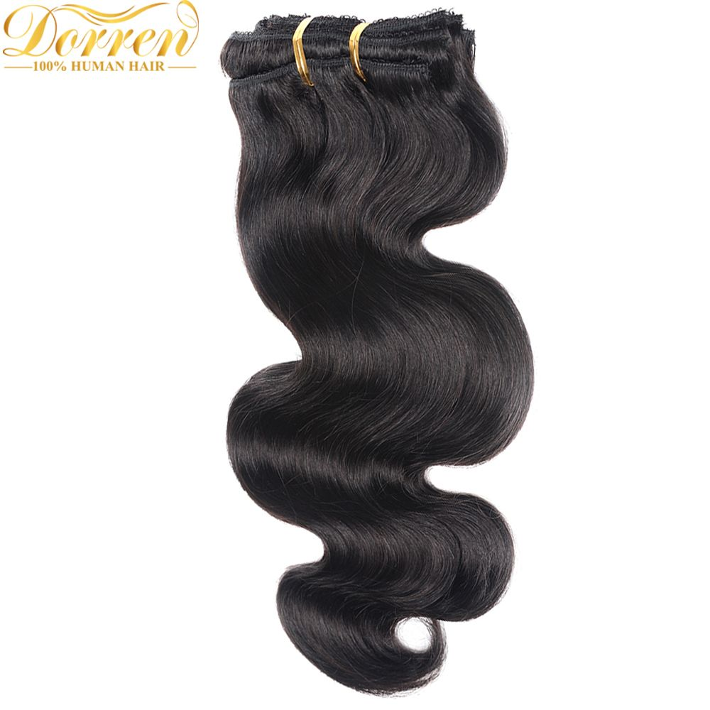Doreen Malaysia Body Wave Hair Clip Ins 120g 7pcs 14 24 Inch Double