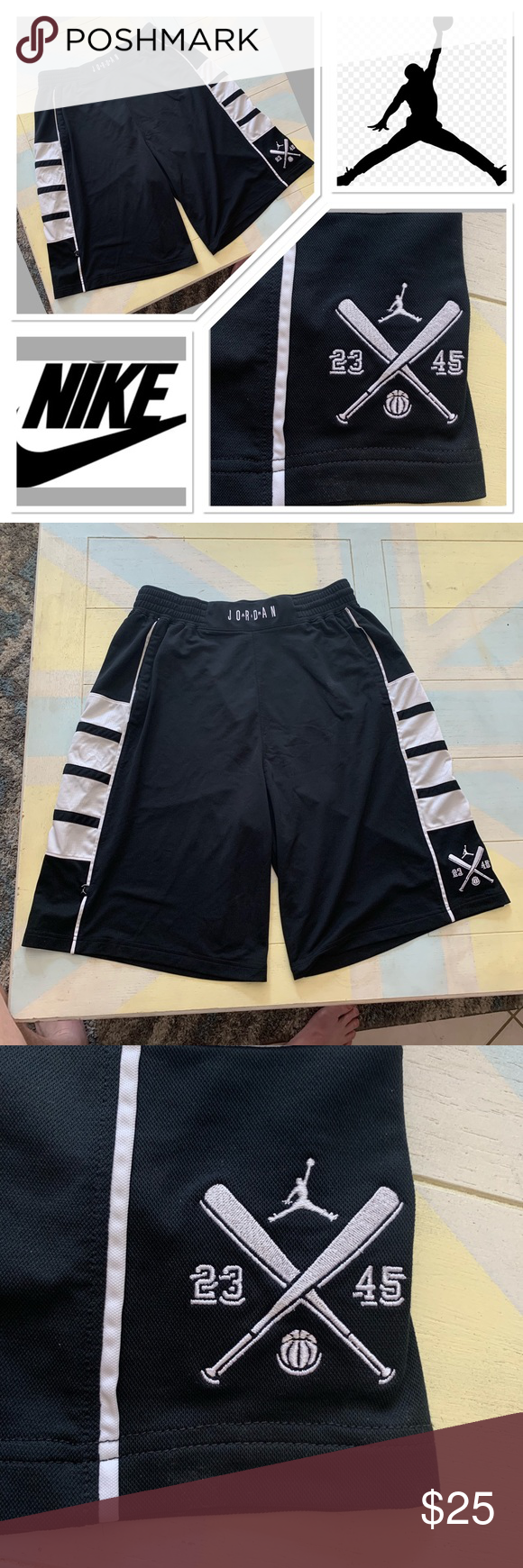 75144766308 Nike Michael Jordan basketball/baseball shorts Vintage Michael Jordan  baseball/basketball crossover shorts.
