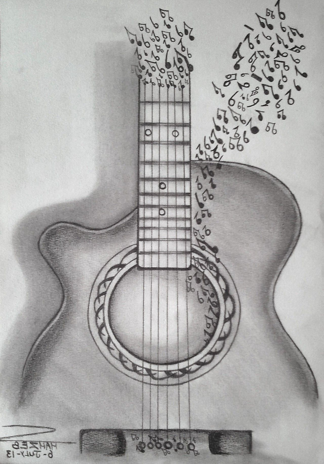 Painting Valley In 2020 Guitar Sketch Pencil Drawings Easy Pencil Sketch
