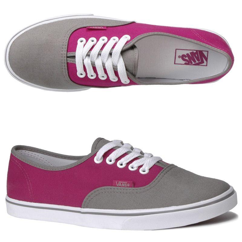 pink authentic vans size 5