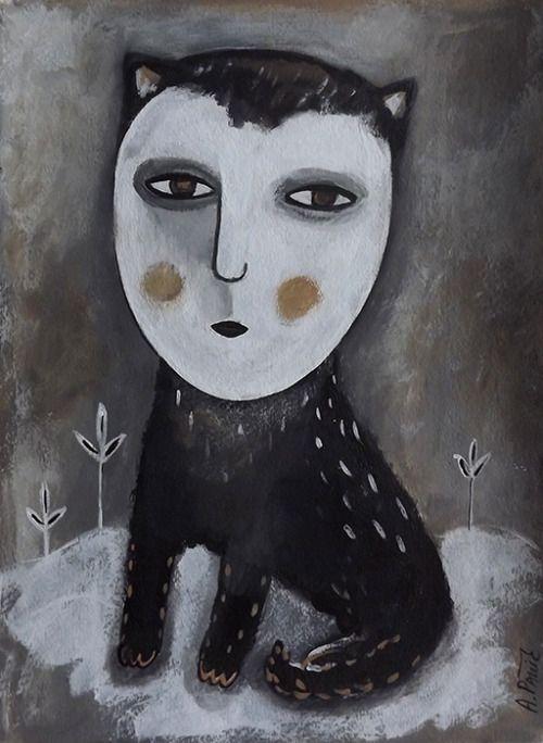 2019的Cat with human face inspired by Japanese contemporary