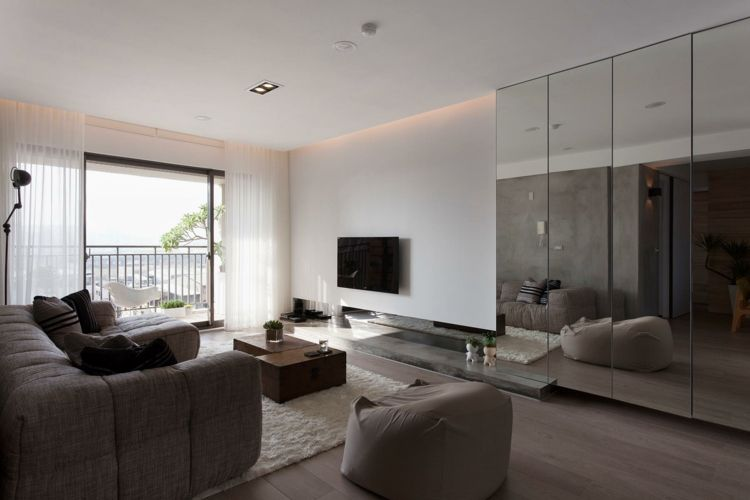 Schon #wohnzimmer Spiegel Im Wohnzimmer U2013 Modelle Und Schöne Ideen Für Die  Einrichtung #Spiegel #