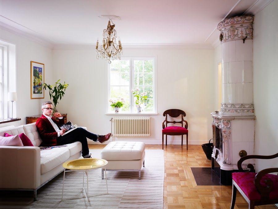 Genial mix de estilos en una vivienda sueca