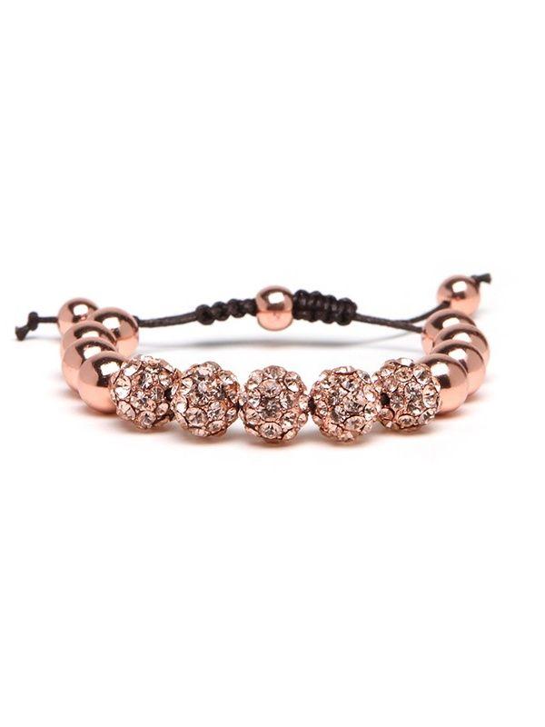 Rose Gold Bauble Bar Bracelet