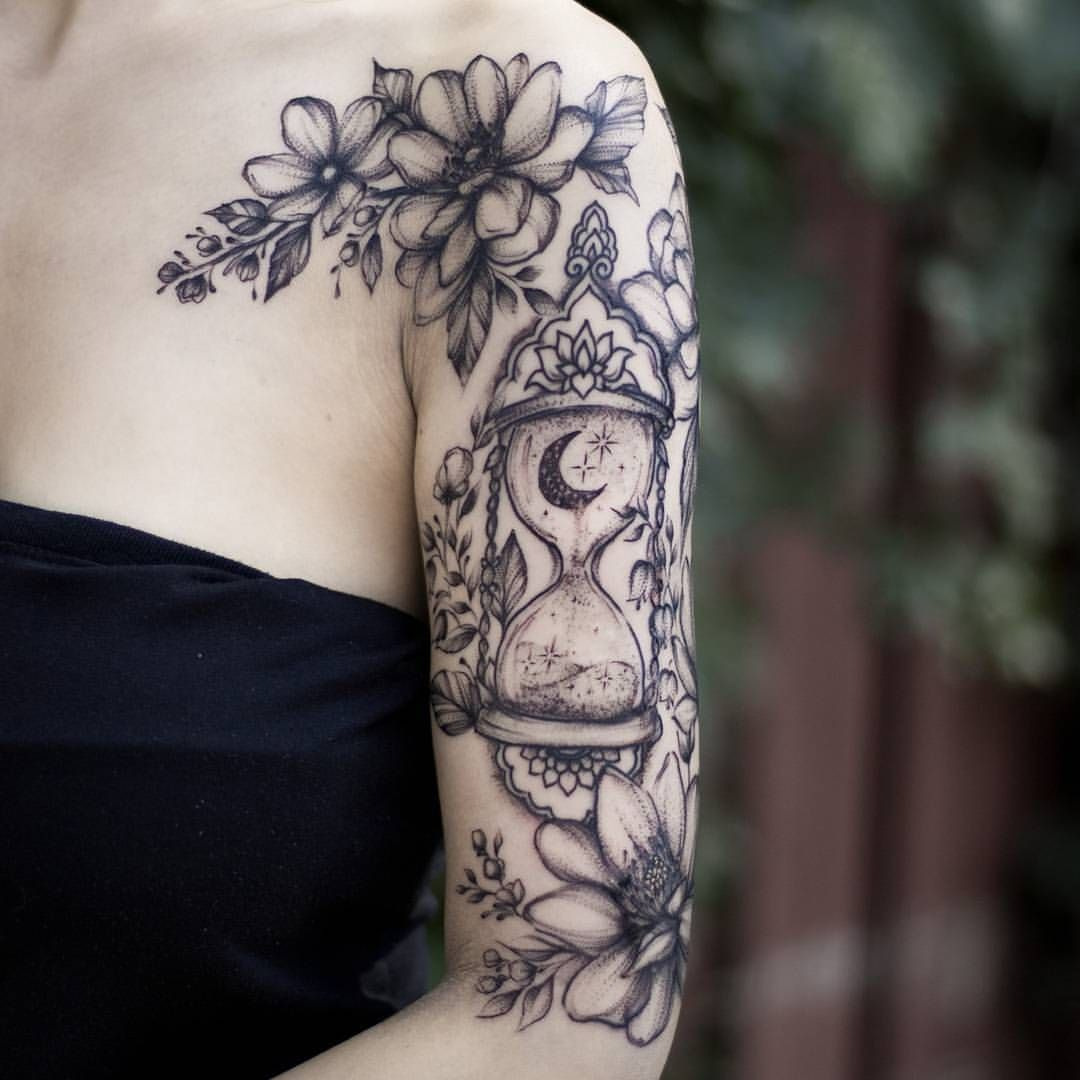 Hourglass And Florals With Images Unique Half Sleeve