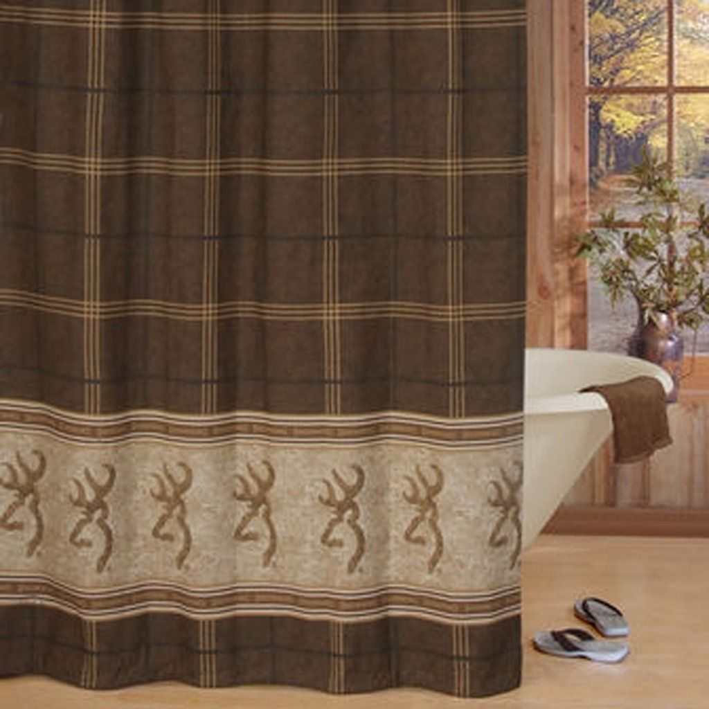Browning Buck Shower Curtain