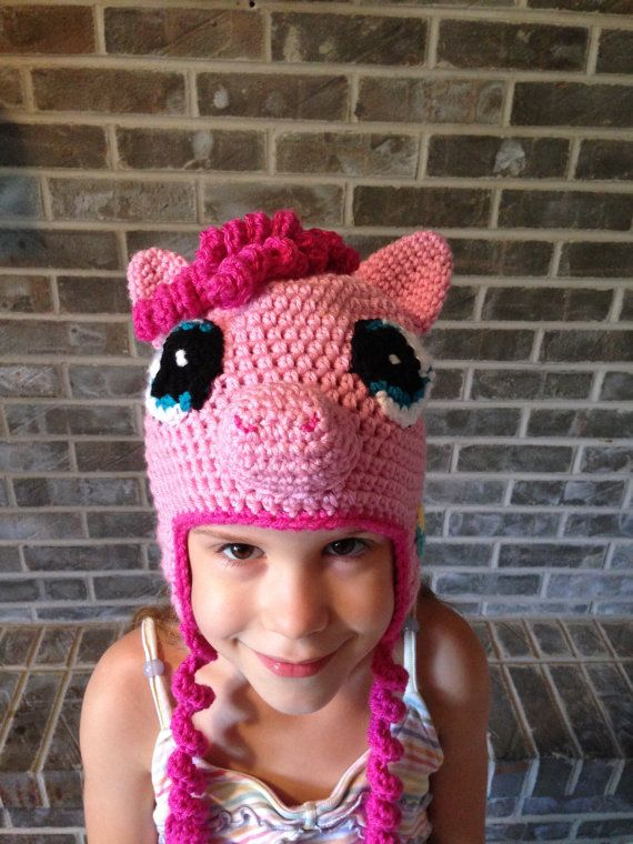 Pinkie Pie My Little Pony crochet hat PATTERN ONLY | Proyectos que ...