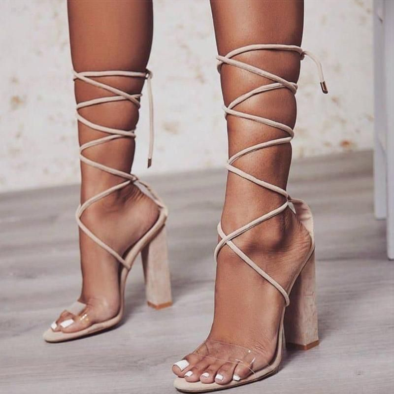 e40073732d Gladiator Strings High Heels Sandals | Women's Fashion | Shoes in ...