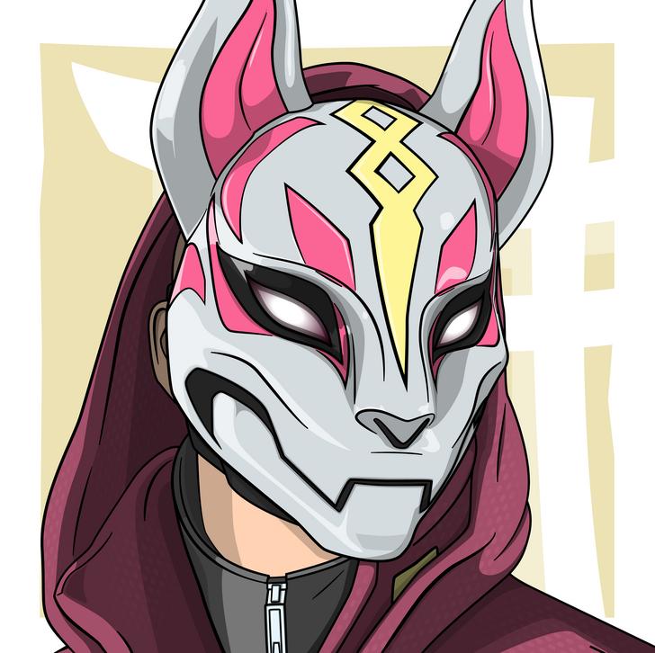 here's my 4th fortnite character portrait drift