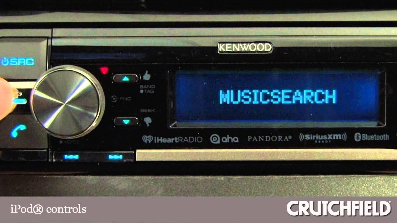 Kenwood Kdc Bt855u Cd Receiver Display And Controls Demo Crutchfield Audio Video