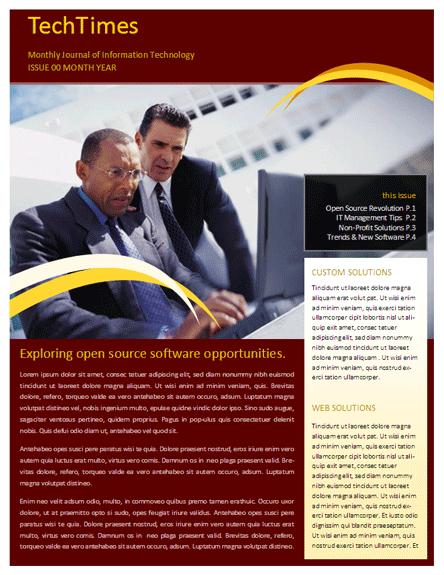 business newsletter template office templates pinterest