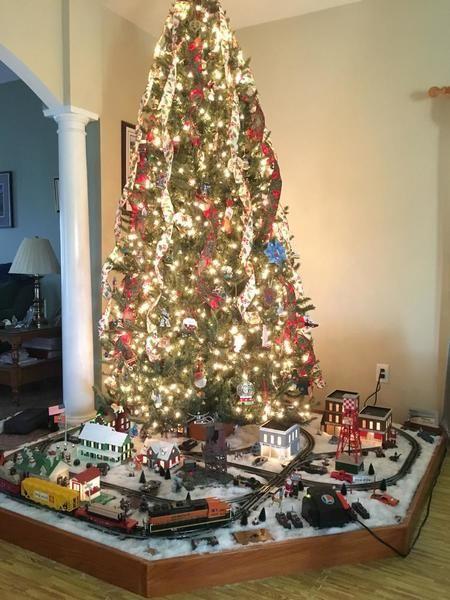 Pin by Julie Johnson on Christmas   Christmas tree train ...