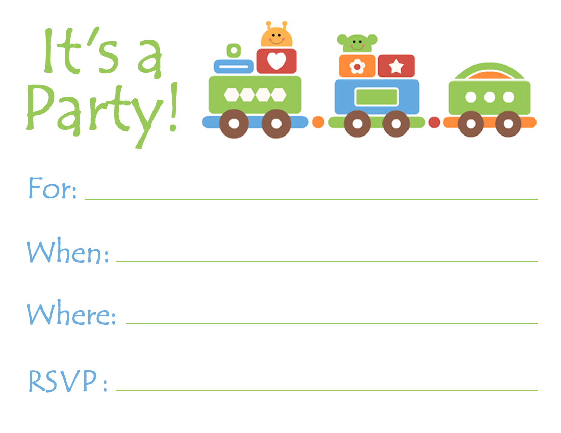 Free Printable Birthday Party Invitations for Adults and Kids | Free ...