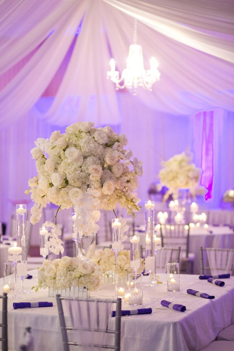 An Elegant Purple And White Wedding