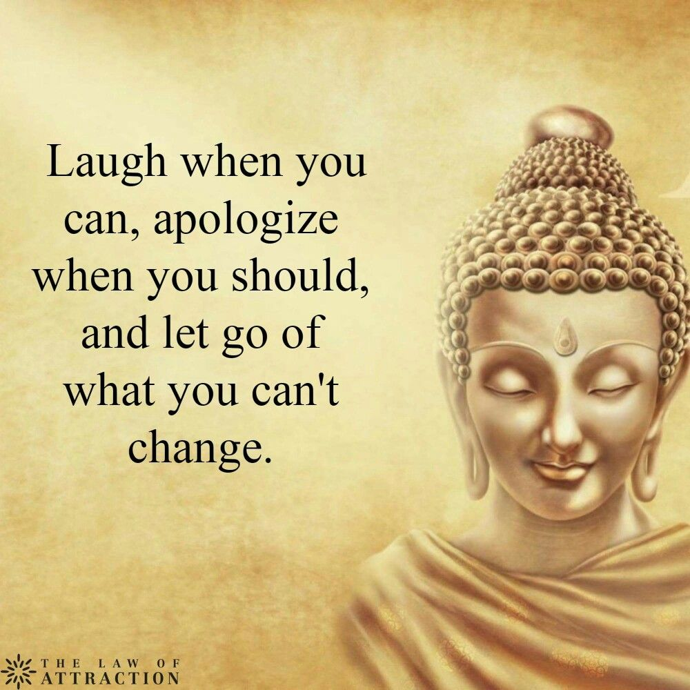 Buddhist Quotes On Love Budha ♡ Laugh When You Can Apologize When You Should Let Go Of