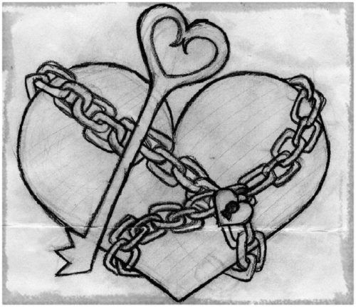 Dibujos Bonitos De Amor Dibujos Romanticos Para Pintar Heart Drawing Love Drawings Easy Love Drawings