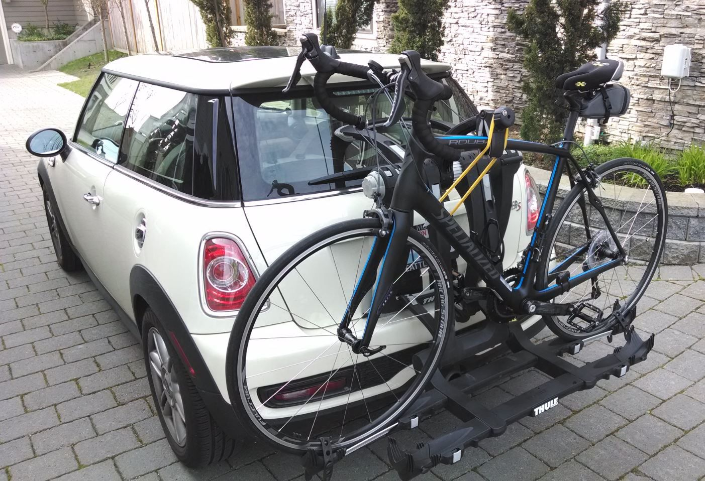 Mini Cooper S Bike Rack For A Specialized Roubaix Bike