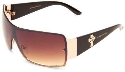 160c7bf23898 Southpole Men s 780SP GLDBR Shield Sunglasses