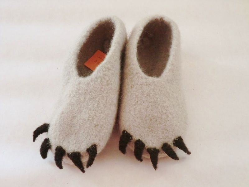 Hausschuhe Stiefel, Herren gefilzte Hausschuhe, Damen Stiefel Hausschuhe, gekochte Wolle Hausschuhe, grau Wolle Hausschuhe, Bio Wolle mit Gummisohlen