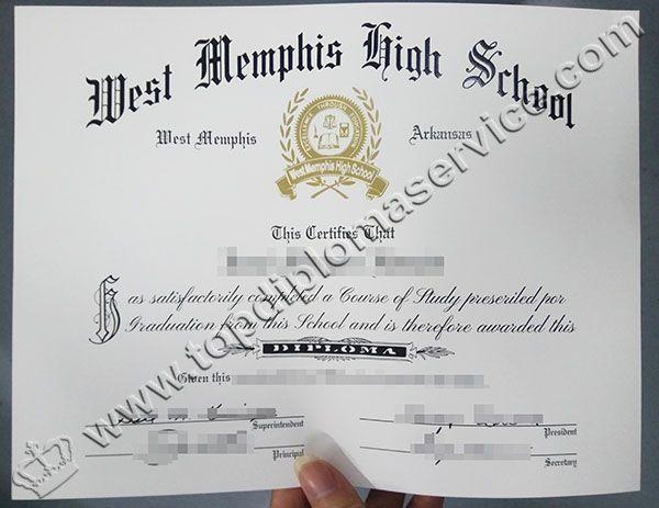 West Memphis High School diploma, High School diploma, buy fake