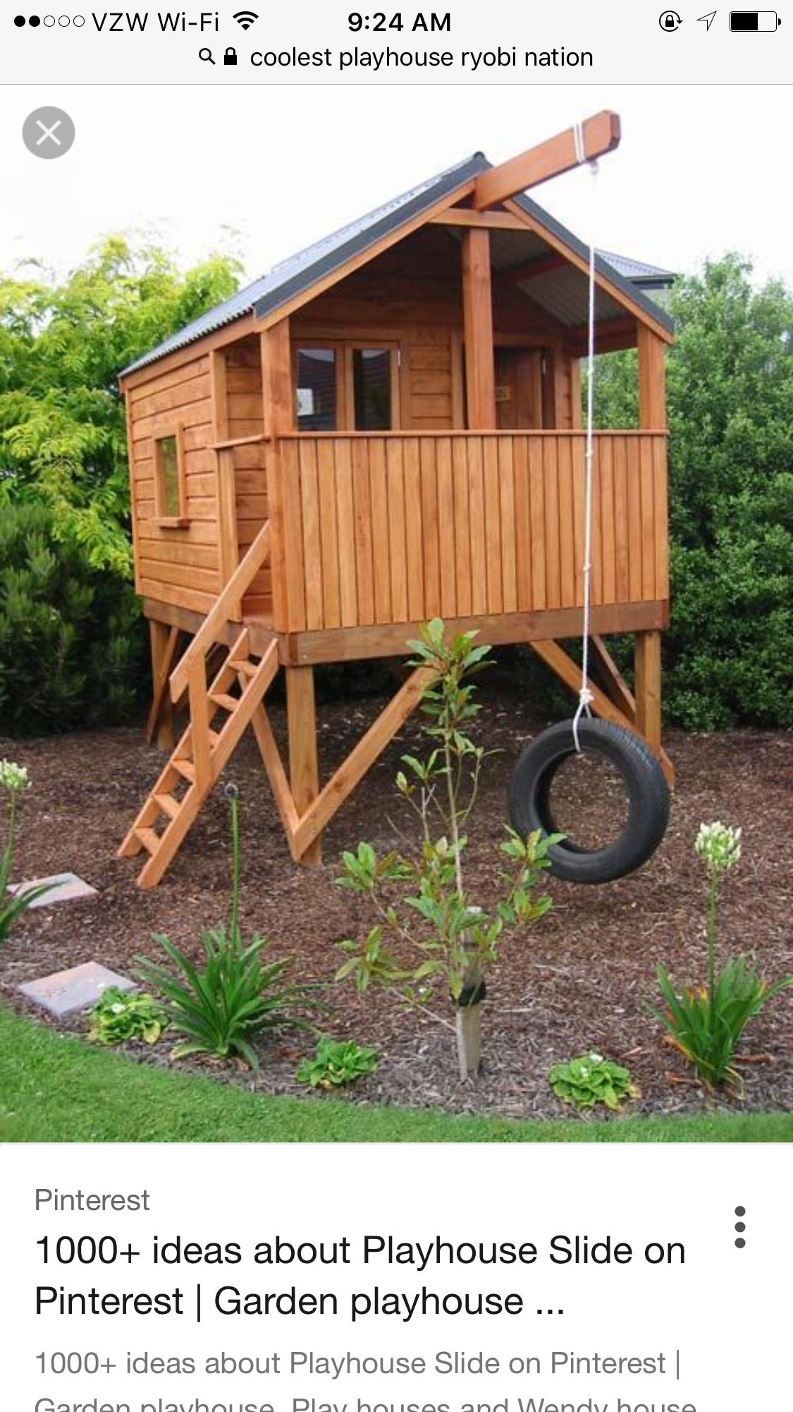 Pin de Natalie Hill en playhouse / backyard kids | Pinterest | Casa ...