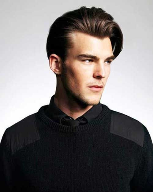 Brown Elegant Hairstyle   Hairstyle Ideas For Men