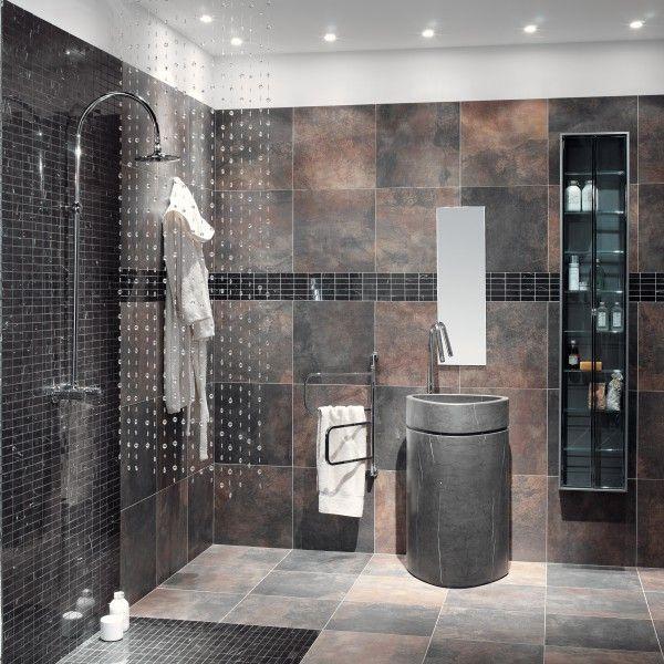 Modern Bathroom Tiles Pinterest : Slate looking porcelain tile westsidetile