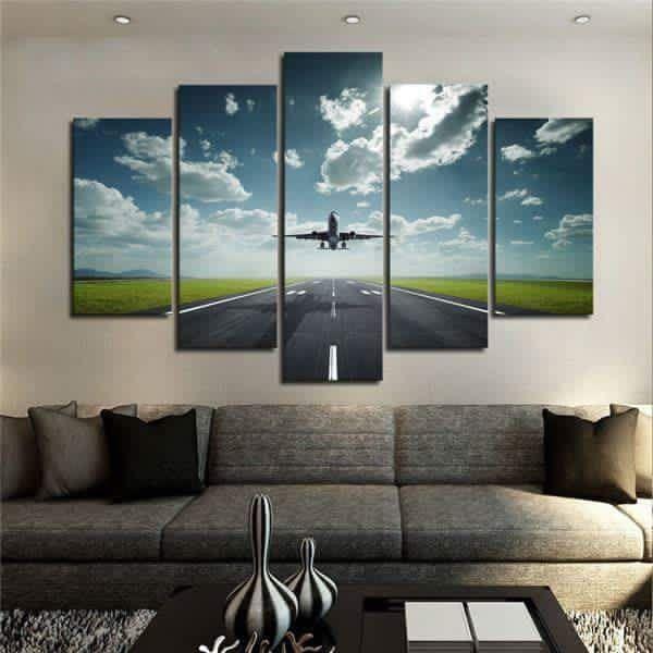 Airplane Home Decor Aviation 1 Canvas Wall Art Print