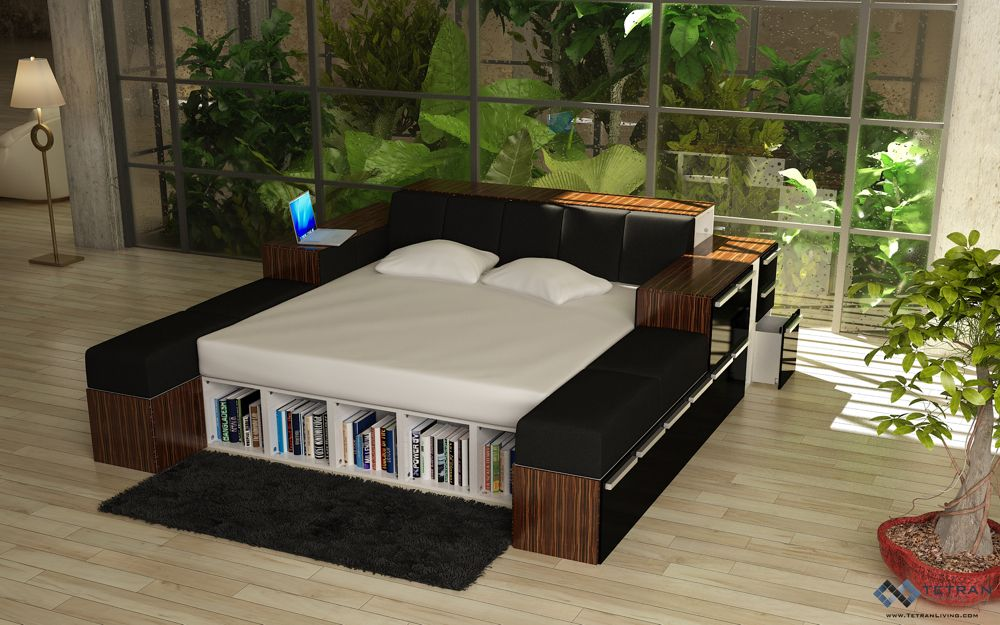 Book Bed MODULAR FURNITURE Made From Recycled Materials Becomes - Design your own furniture with tetran eco friendly modular cubes