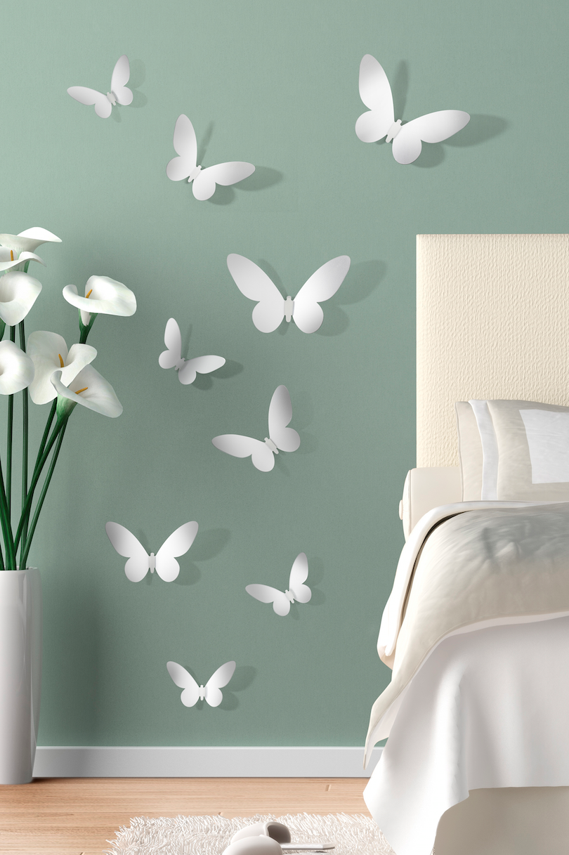 Stickers de mariposas en 3d con dise o atractivo para for Stickers 3d pared