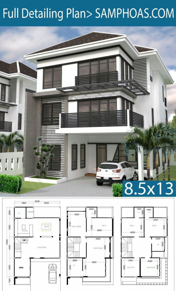 House Front Design In 2020 6 Bedroom House Plans Bedroom House Plans Model House Plan