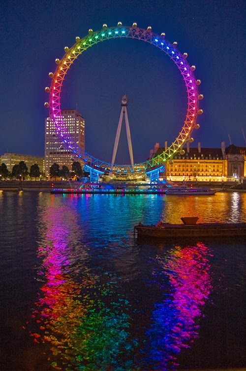 Resultado de imagen de london eye color arcoiris