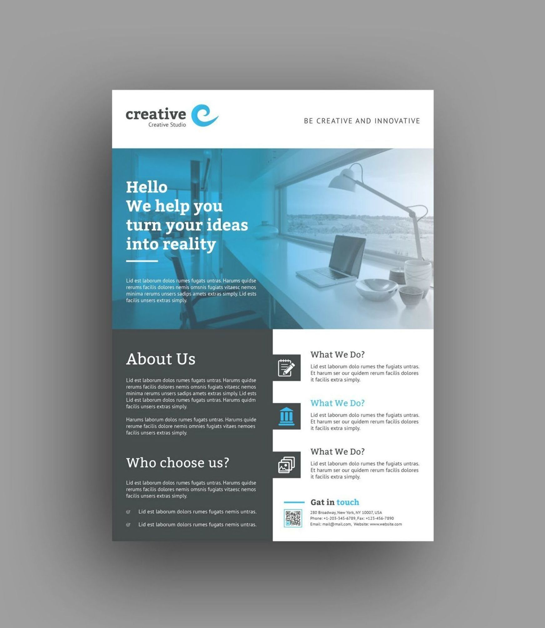 Valencia Modern Business Corporate Flyer Template 6