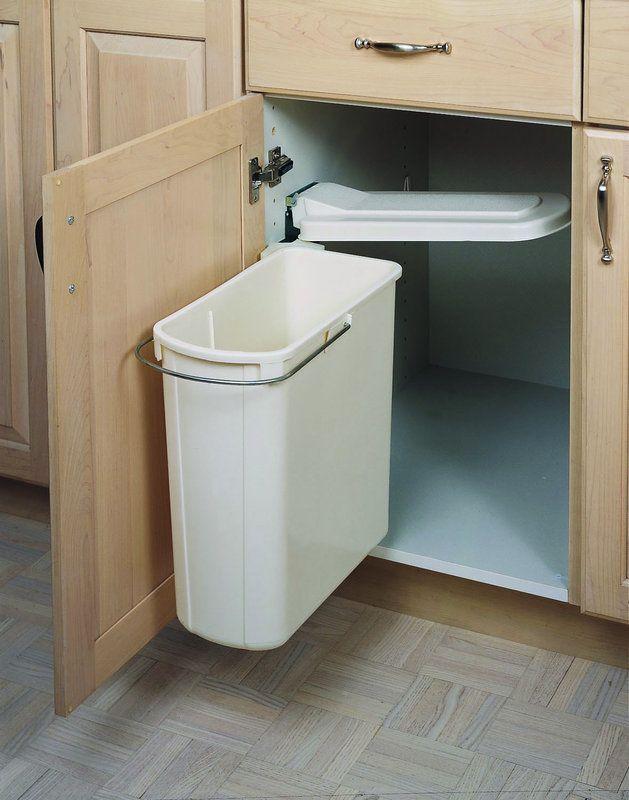 Rev-A-Shelf 8-700411-20 8-700 Series Pivot Out Single Bin Trash Can
