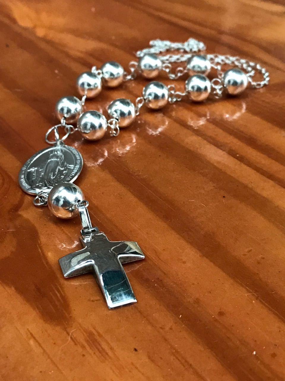 fbf3be85ffd1 Denario con cuentas grandes | joyas con significado - plata 925 ...