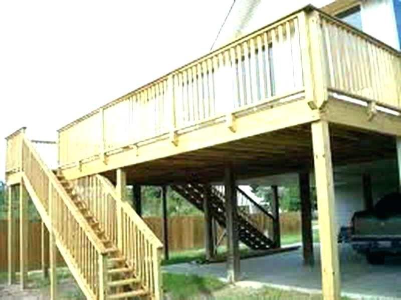 Plan Free Standing Elevated Deck Plans Deck Building Cost Deck Design Deck