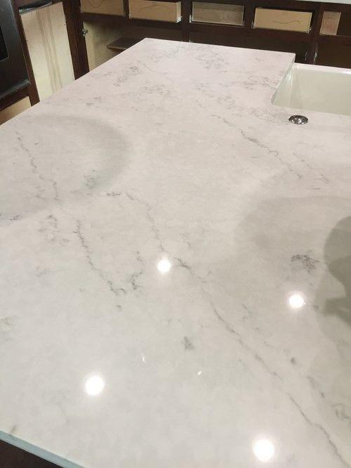 Quartzmasters Organic White Quartz Kitchen Countertops Kitchen