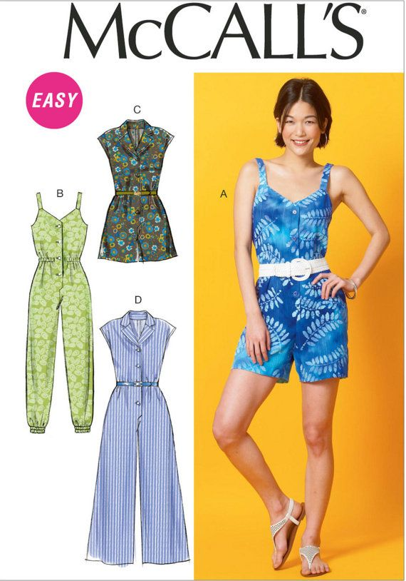 UNCUT Misses\' Jumpsuit and Romper Sewing Pattern McCall\'s 6969 Size ...